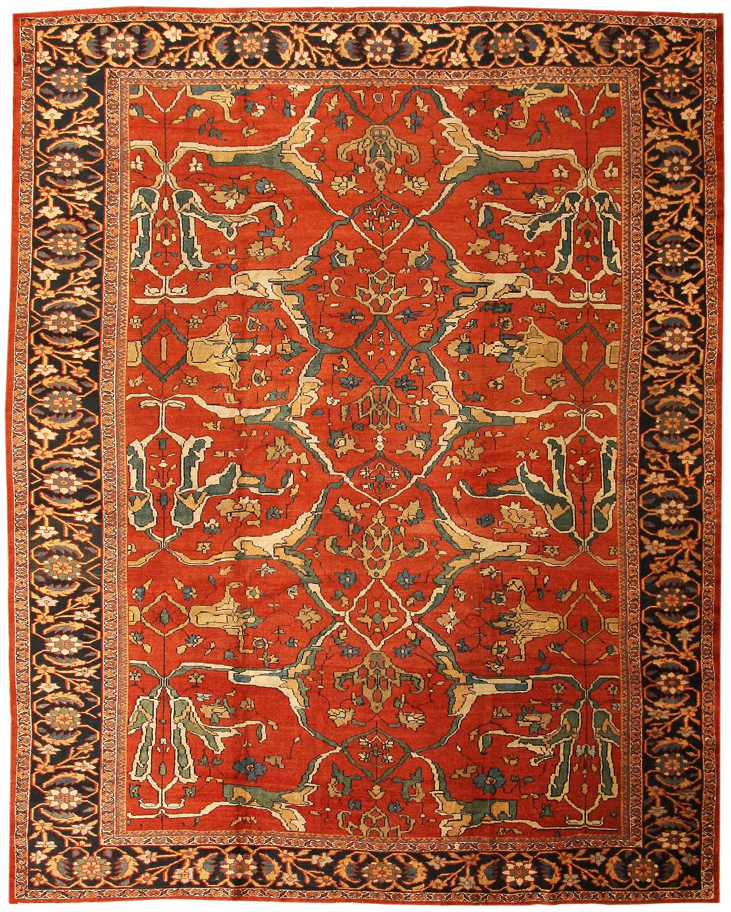 Antique Chinese Rug: Persia(n) Carpets All The Way.