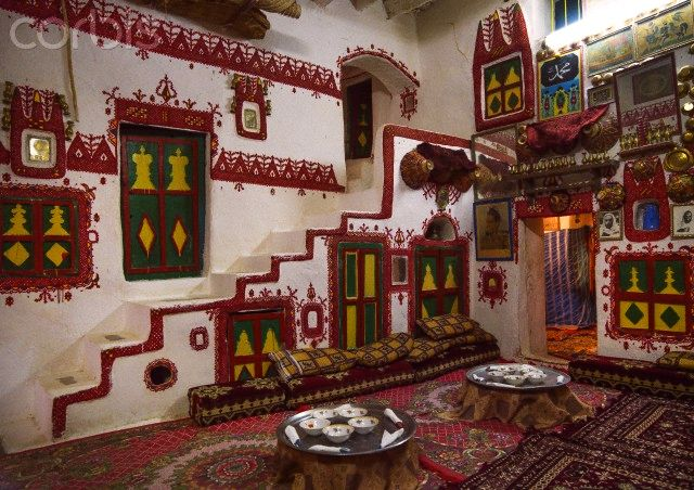 Traditional berber house decoration In the old town, Ghadames, Libya.