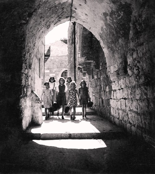 students from safed, 1943
