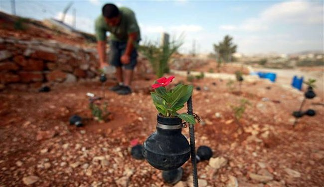 Art of resistance: Palestinian garden of tear gas canisters