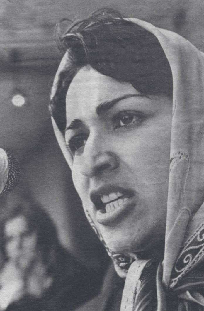 Meena_founder_of_RAWA_speaking_in_1982