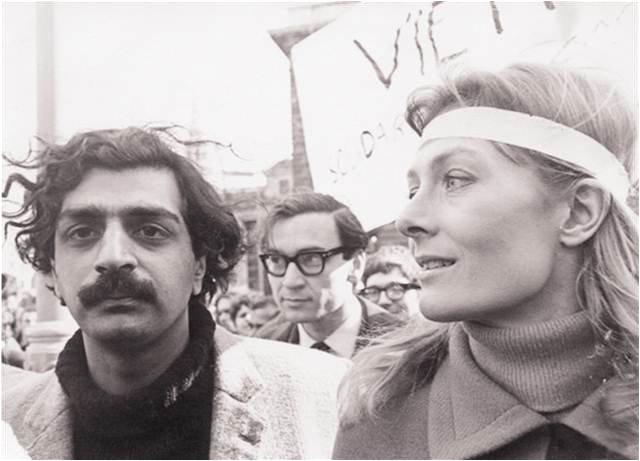large-Tariq Ali and Vanessa Redgrave protesting the war in Vietnam