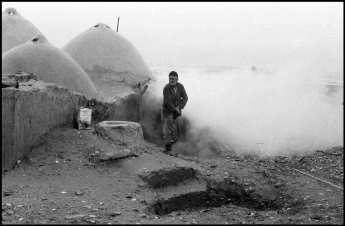 IRAN. 1958. Public bath near the Caspian Sea.