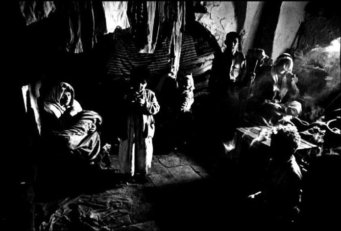 JORDAN. Palestinian refugees at Muascar Camp near old Jerusalem. 1960